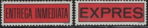 Costa Rica  Hinged ,2 Express Labels
