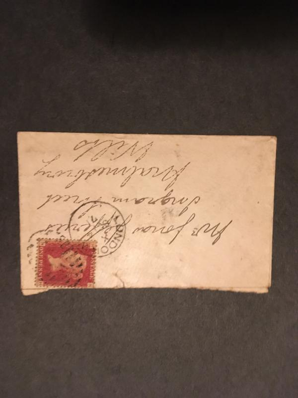 GB Sc. #33 Plate 140 on 1871 Cover From London. Cat. $11.40++ Fine