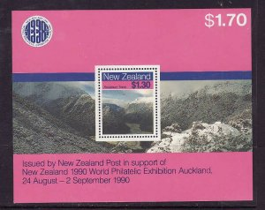 New Zealand-Sc#906a-Unused NH sheet-Landscapes-1988-