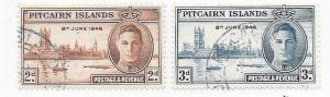 Pitcairn Islands #9-10   Peace Issue  (U) CV$1.40