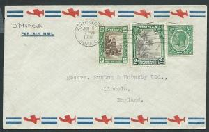 JAMAICA 1938 6½d airmail rate cover to UK..................................42842