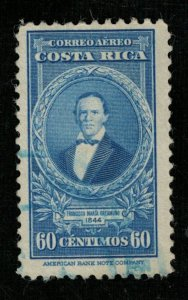 1943 Airmail - Portraits and Dates, Costa Rica 60c (TS-385)