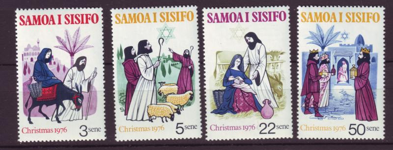 J19642 Jlstamps 1976 samoa set mnh #442-5 christmas