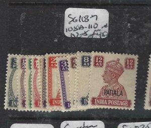 INDIA PATIALA  (PP1108B)  KGVI  SG 103-7, 108A-110, 112-5     MNH