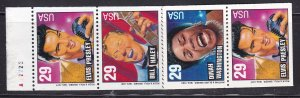 US 2737a, MNH Booklet Pane of 8 - Rock and Roll, Rhythm ansd Blues