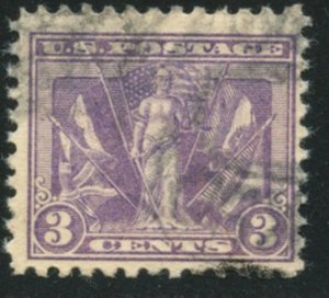 US Sc#537 1919 3c Victory Issue Complete Used