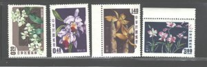 TAIWAN,1958, FLOWERS - ORCHIDS   #1189 - 1192  MH (no margins)