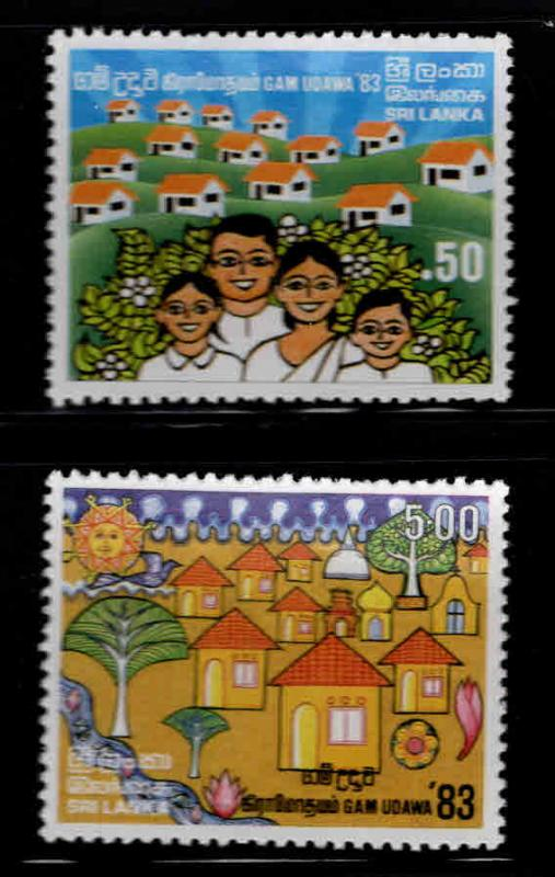 Sri Lanka Scott 684-685 MNH** 1983 stamp set