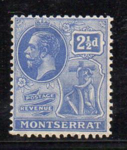 Montserrat  Sc 62 1922 2 1/2d G V & Symbol stamp mint