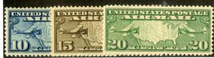 US C7-C9 MNH XF SCV $21.25++ BIN $15.00 AIRMAIL