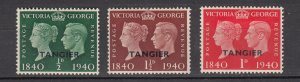 J26360  jlstamps 1940 great britain morocco set mh #518-20 ovpt