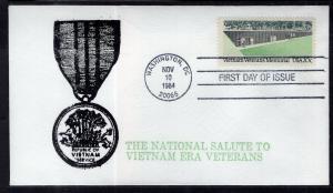 US 2109 Vietnam Veterans Memorial Rich Hoffner U/A FDC