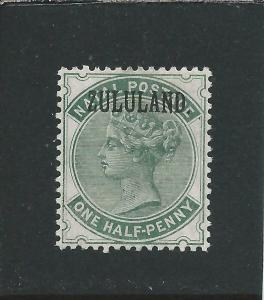 ZULULAND 1888-93 ½d DULL GREEN WITH STOP MM SG 12 CAT £55
