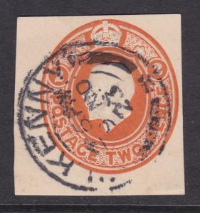 GB 1923 2d George V Postal Stationary Cutout VGC