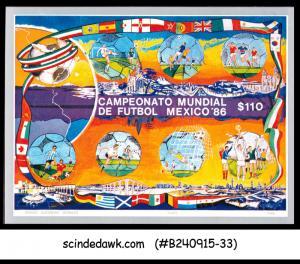 MEXICO - 1986 WORLD CUP OF FOOTBALL / SOCCER / SPORTS - SOUVENIR SHEET MNH