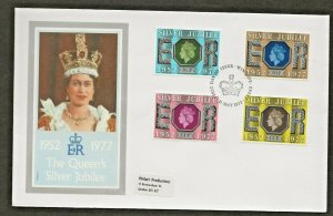 11/5/1977 SILVER JUBILEE SET FIRST DAY COVER UNADDRESSED-PICTORIAL POSTMARK