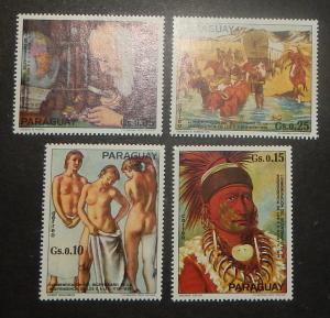 Paraguay 1625. 1976 U.S. Bicentennial, singles, NH