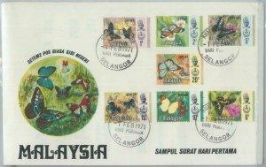 82299 - MALAYA  - FDC Cover 1971 + INFORMATION LEAFLET butterflies PERAK