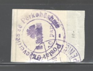 ALBANIA 1913  #21, NO GUM AS ISSUED, (C.T.O. or USED??), MH