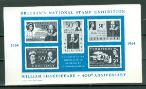 GREAT BRITAIN 1964 STAMP EXHIBITION SOUV. SHEET MNH