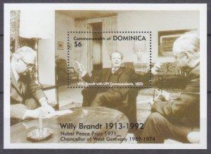 1993 Dominica 1717/B241 Nobel laureates / Willy Brandt 7,00 €