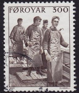 Faroe Islands - 1984 - Scott #113 - used - Fishermen