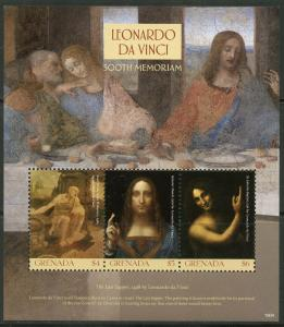 GRENADA  2019 500th MEMORIAL OF  LEONARDO DA VINCI  PAINTING SHEET MINT NH