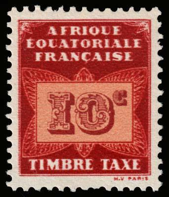 French Equatorial Africa - Scott J2 - Mint-Never-Hinged