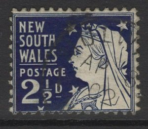 NEW SOUTH WALES SG297 1899 2½d PRUSSIAN BLUE p12x11 USED