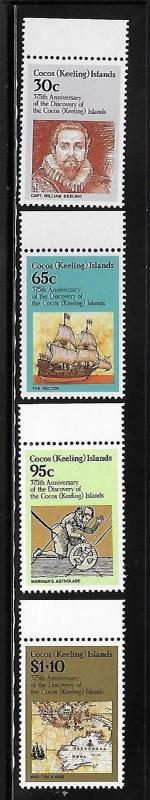 Cocos Islands 1984 275th Anniversary of Islands Discovery MNH A607