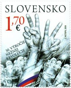 SLOVAKIA/2019 - JOINT ISSUE WITH CZECHIA (The Velvet Revolution), MNH