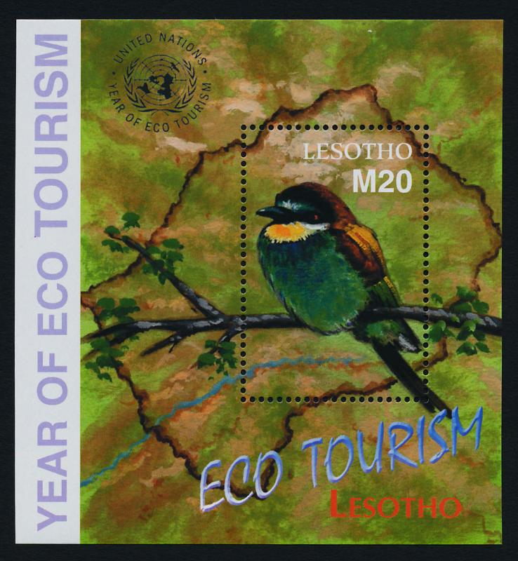 Lesotho 1321 MNH Birds, International Year of Ecotourism