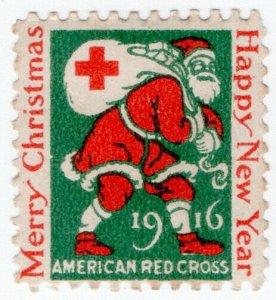 (I.B) US Cinderella : Red Cross Christmas Seal (1916)