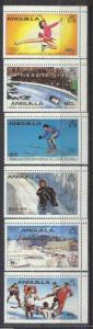 Anguilla 375-80 MNH Olympic-80 SCV1.95