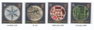 Great Britain Sc 1285-8 1989 Microscopy stamps used