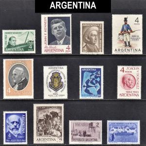 Argentina Scott 759-770  F to VF mint OG NH , H or HR.