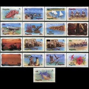 ANGUILLA 1982 - Scott# 463-79 Views etc. Set of 17 NH