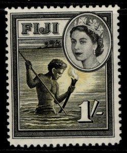 FIJI QEII SG289, 1s black & yellow, M MINT.