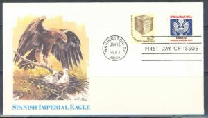 UNITED STATES 17c  OFFICIAL STAMPS ON FLEETWOOD  FIRST DAY COVER