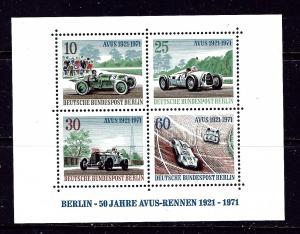 Germany-Berlin 9N315 MNH 1971 Racing Cars sheet of 4