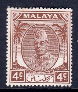 Malaya (Kelantan) - Scott #53 - MH - Toning spot - SCV $1.75
