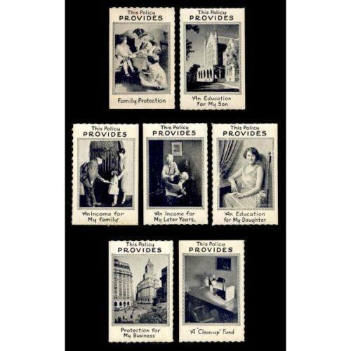 Insurance - 7 Generic Advertising Poster Stamps