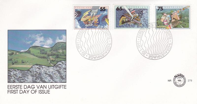 Netherlands 1991 Environmental Protection FDC Unadressed VGC No.279