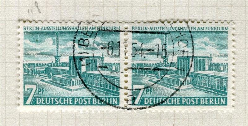 GERMANY; WEST BERLIN 1954 early Memorial Library issue fine used set