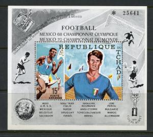 Chad MNH S/S C66C World Cup 1970 SCV 6.25
