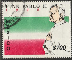 MEXICO 1648 Visit of Pope John Paul II. Used. (1265)