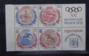 Monaco 1972 Olympics Games set MNH