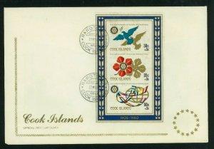 Cook Islands 1980 FDC 75th Anniversary of Rotary International Sheet, Scott B87