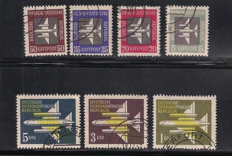 GERMANY - DDR SC# C1-7 F-VF U 1957