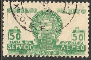 MEXICO C175 50c 1934 Definitive Wmk Gobierno...279 Used. (941)
